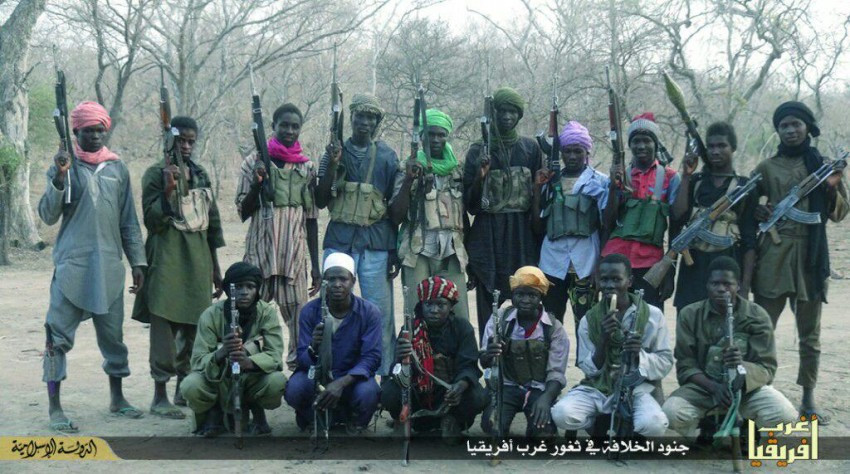 Fighters from the Islamic State West Africa Province, formerly known as Boko Haram