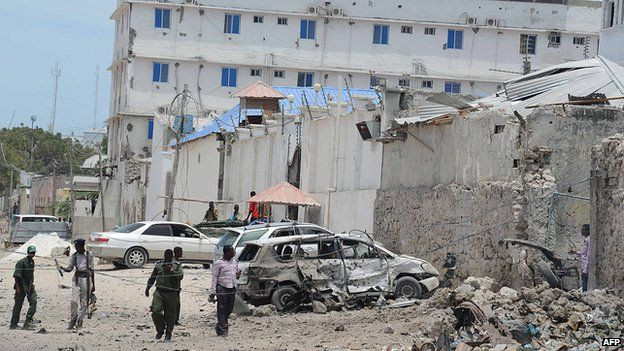 A number of Mogadishu's popular hotels have been targeted by car bombers in recent years