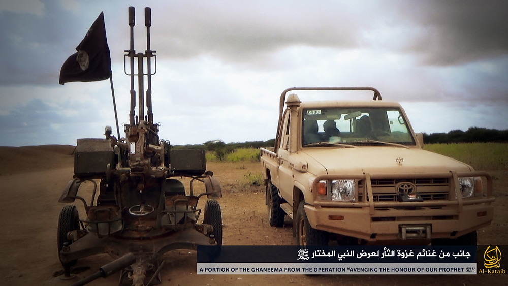 Anti-aircraft gun and vehicle captured by Shabaab