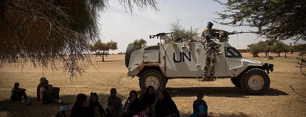 UN troops from the Multidimensional Integrated Stabilization Mission in Mali (MINUSMA). Anefis, Mali, September 14, 2015. (Marco Dormino/UN Photo)
