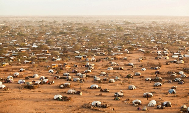 In 2011, refugees fled Somalia in numbers. Dadaab could not accommodate them and they settled on the oustkirts of Dagahaley and Ifo. Photograph: Brendan Bannon/UNHCR