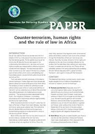 Counter-terrorism, human rights and the rule of law in Africa