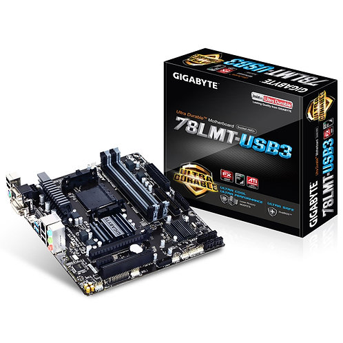 Gigabyte GA-78LMT-USB3 AMD Socket AM3+ Micro ATX VGA/DVI-D/HDMI USB 3.0 Motherbo