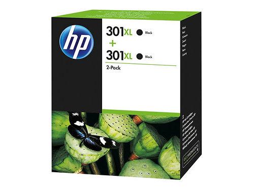 HP 301XL - 2-pack - High Yield - black - original - ink cartridge
