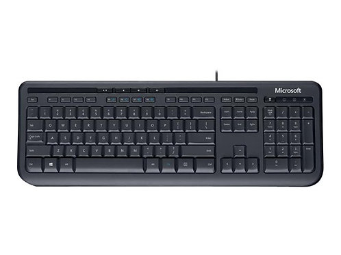 Microsoft Wired Desktop 600 - keyboard and mouse set - black