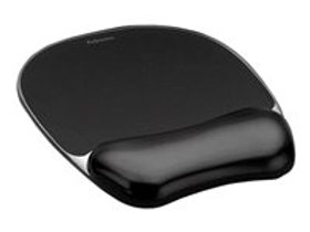 Fellowes Gel Crystals - mouse pad with wrist pillow
