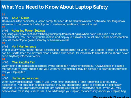 Top 5 Laptop Computer Safety Tips