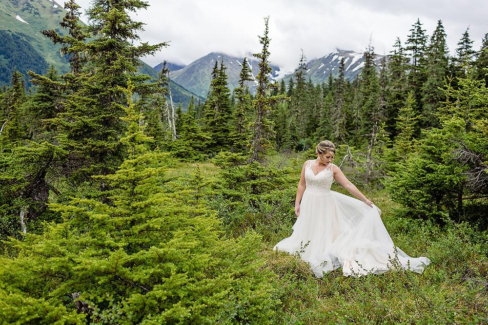 Alaska elopement in Girdwood