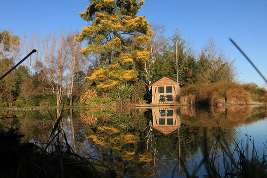 Boat House & Pond