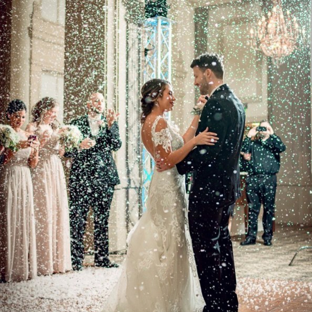 Wedding Indoor Snow Special Effect