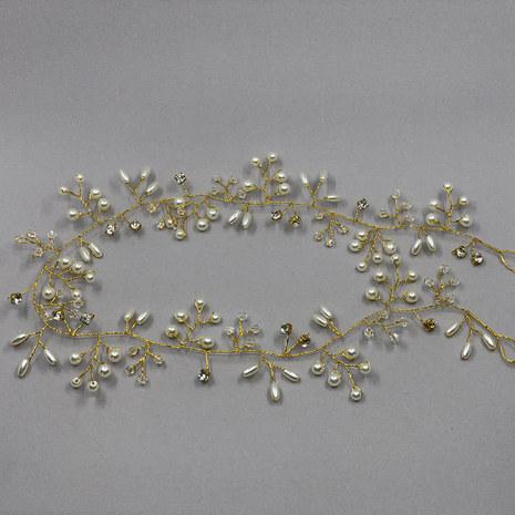 Eva Gold Bridal Hair Vine 100cm