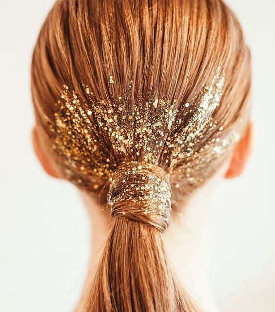 Glitter Ponytail Hairstyle Inspiration for Festival Hair - Hairstyling Blog