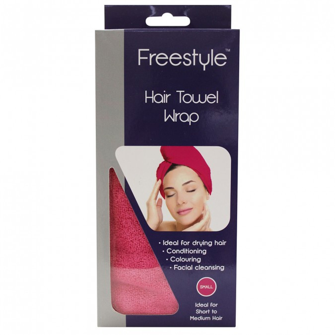 FREESTYLE Hair Towel Wrap Pink - Bridal Hair Blog