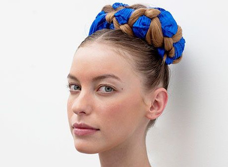 Braided Hairstyle Inspiration with Scarf Hair Accessories