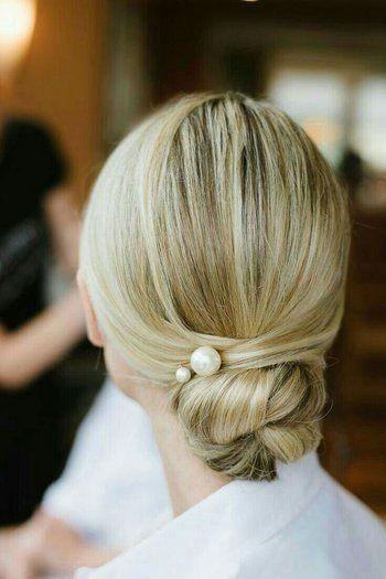 Sleek Bun Hairstyle with Pearls - Hairstyling Blog Australia