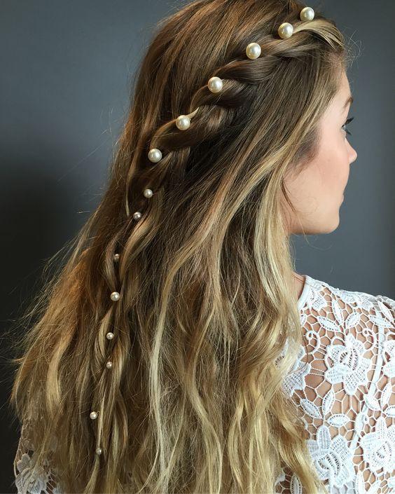 Rope braid with pearl hair pins - Professional Hair Blog