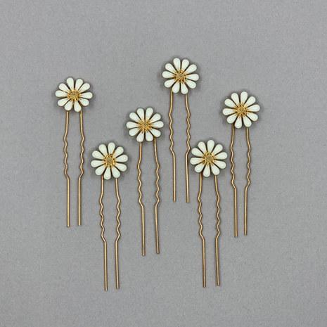Daisy Flower Wedding Hair Pins