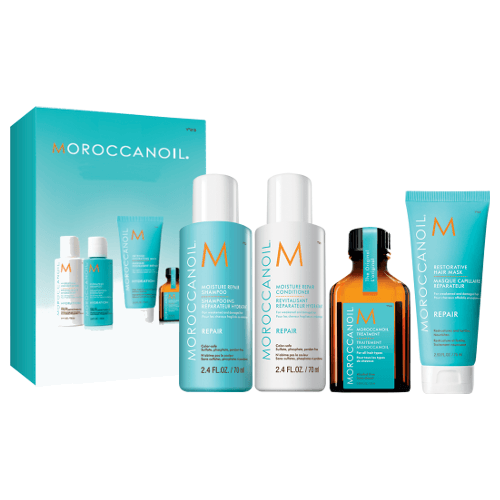 MOROCCANOIL Moisture Repair Mini Kit for Travelling to protect and moisturise hair