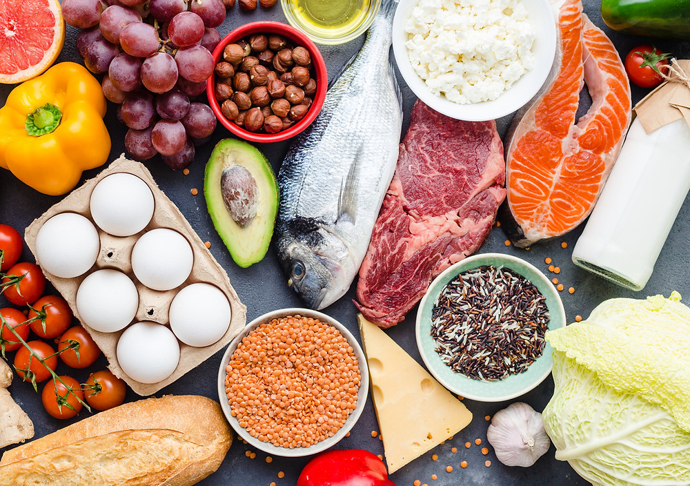 Eat protein - omega-3 fatty acids - vitamins and minerals for healthy hair