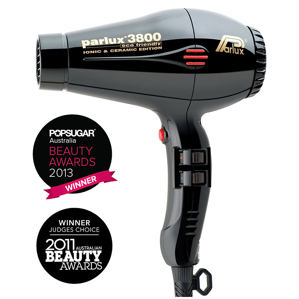 Parlux 3800 Ceramic and Ionic Dryer 2100W Black