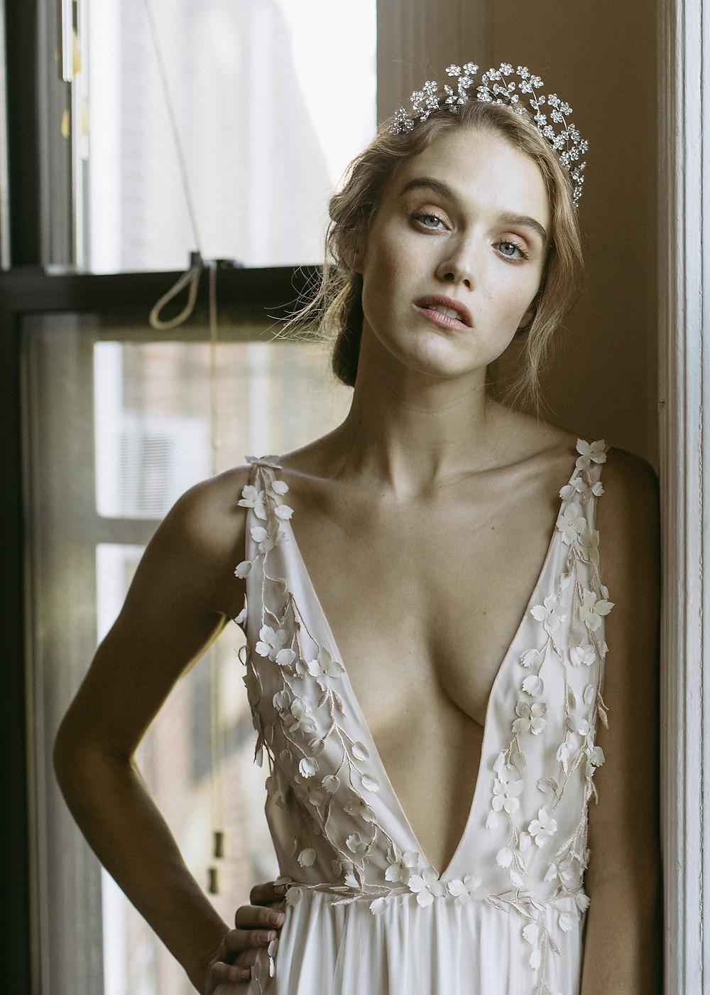 Violet Tiara - Jennifer Behr - Wedding Tiara - Bridal Tiara