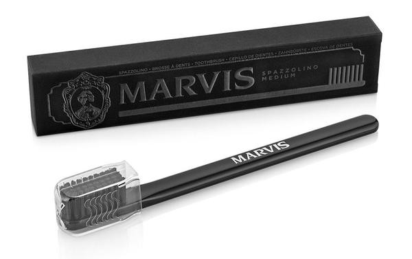 Marvis Black Bristle Toothbrush  -  Hair Styling Tips