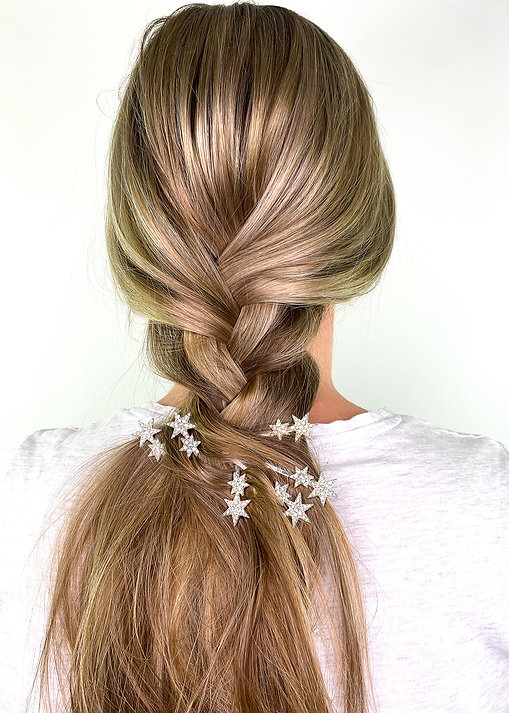 Loose Plait Hairstyle with Star Clips - Hair Clip Hairstyles - BEAU MANE