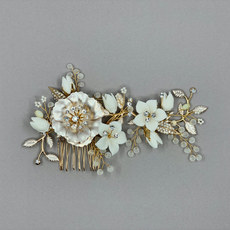 Gardenia Bridal Hair Comb