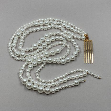 Quinn Pearl Chain Bridal Comb