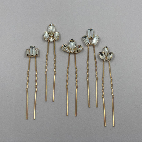 Venus Crystal Bridal Hair Pins