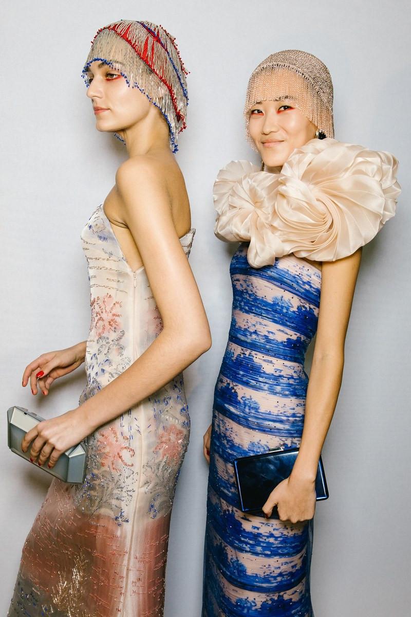 Armani Privé at Couture Spring 2019 - Backstage Runway Photos VOGUE