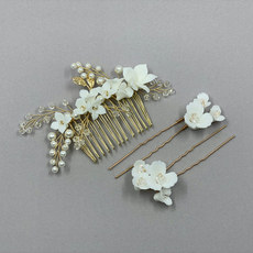 Violet Wedding Hair Piece Set