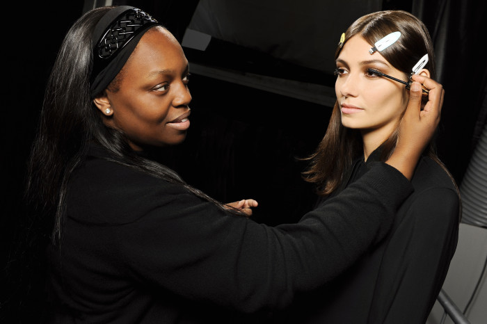 Makeup Artist Pat McGrath Backstage for Runway Show