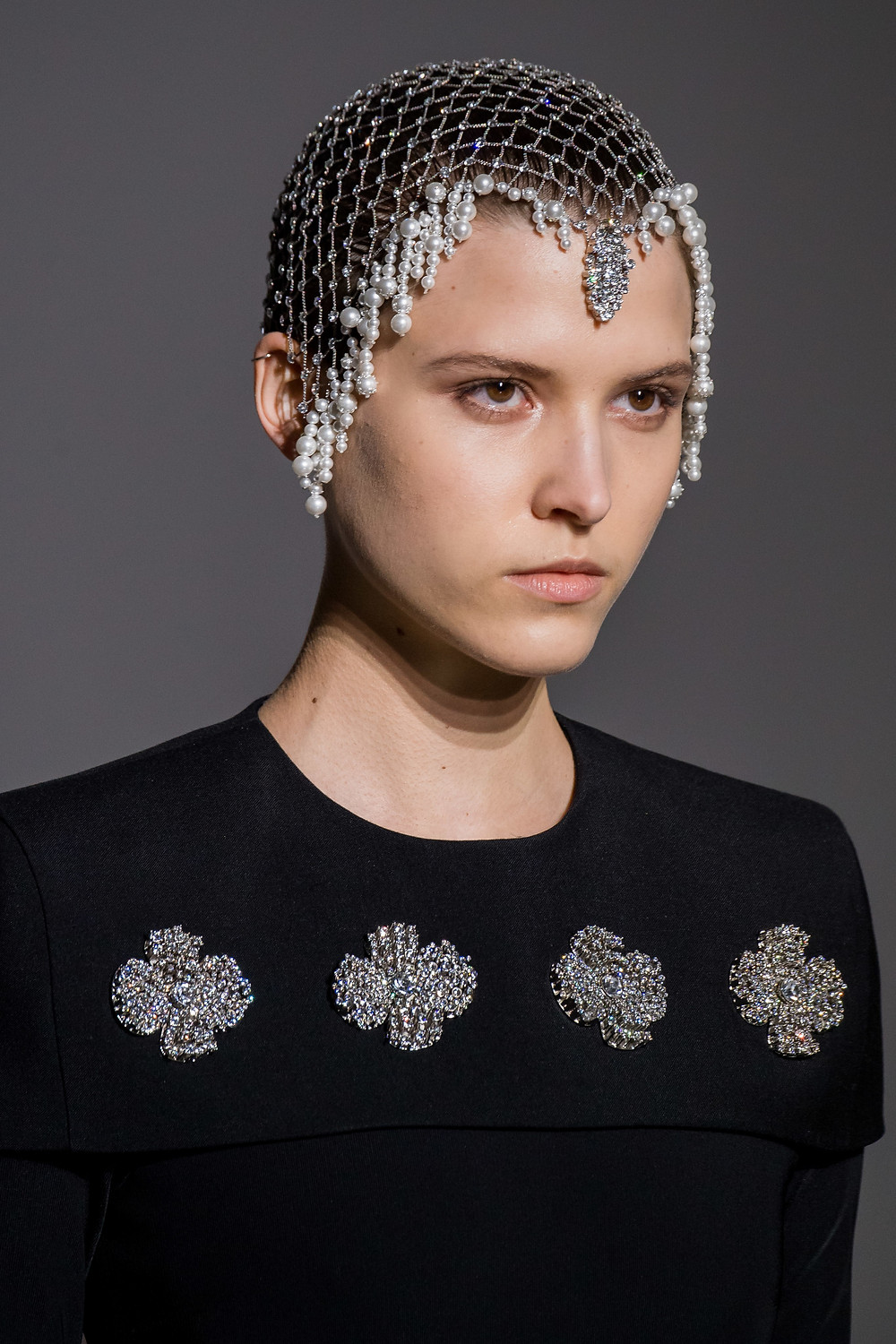 Givenchy Spring 2019 Couture Collection head piece
