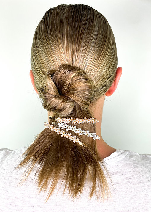 Twisted Bun Hairstyle - How To Wear Hair Clips - BEAU MANE