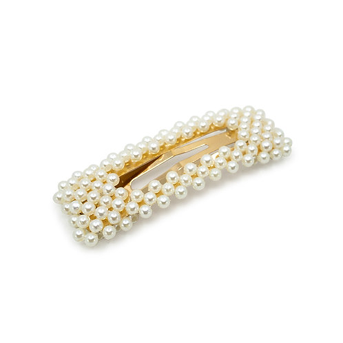 Rectangle Pearl Snap Clip - Hair Accessories Australia - JODIE DAY