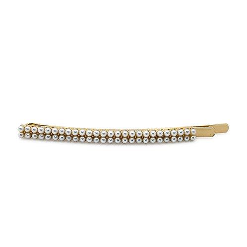 Double Row Pearl Hair Slide - Wedding Hair Pins - JODIE DAY