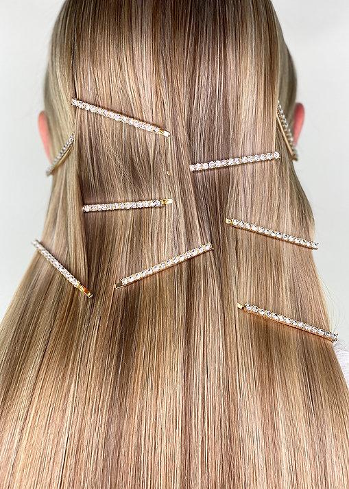Straight Hair - Diamante Hair Clips - Hair Accessories Australia - BEAU MANE
