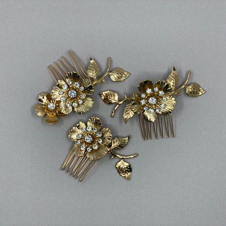 Rose Bridal Hair Comb Set