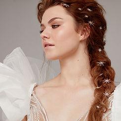 Beau Mane Hair Clips - Bridal hair Acces