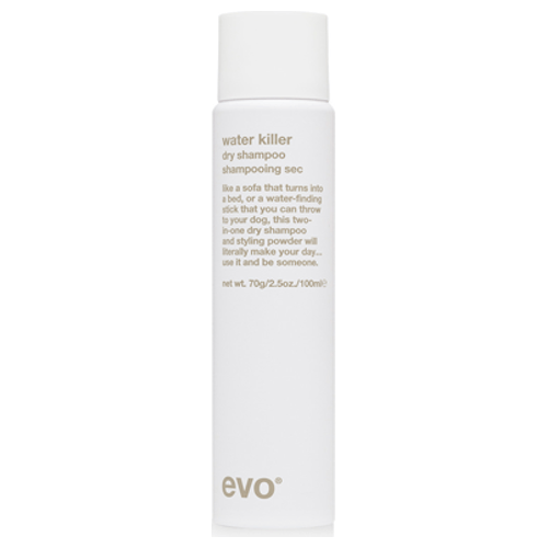 evo  Water Killer Dry Shampoo helps prevent damage while absorbing oil