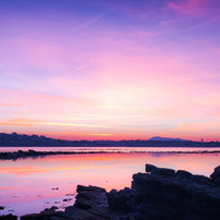 Sunset sur la baie de St-Jean-de-Luz