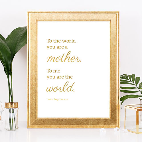 Mother My World Gift
