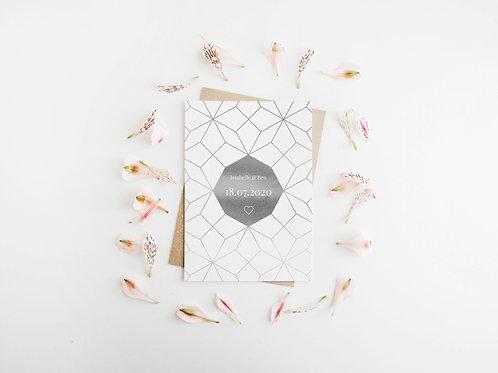 Geometric Wedding Stationery