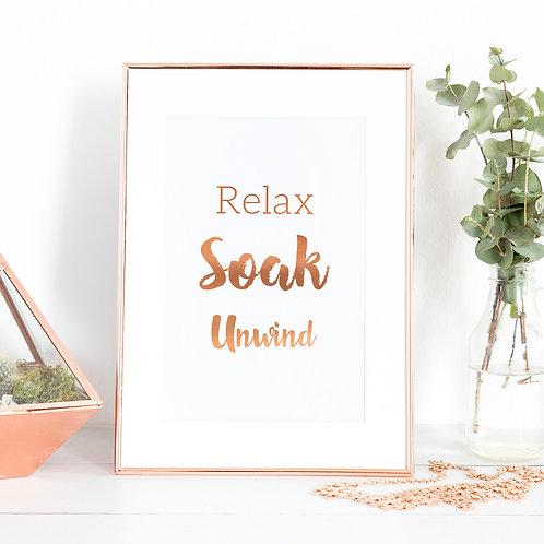 Relax, Soak, Unwind