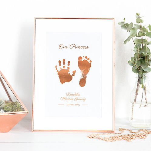 Foil Hand & Footprint Kit (size A4)