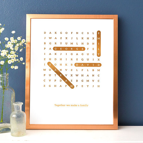 Word Search Family Names