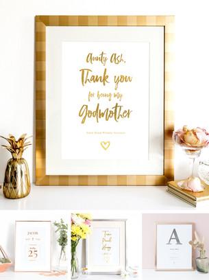 Christening gift prints