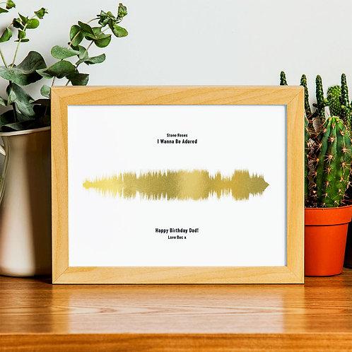Dad's Song Sound Wave Foil Print