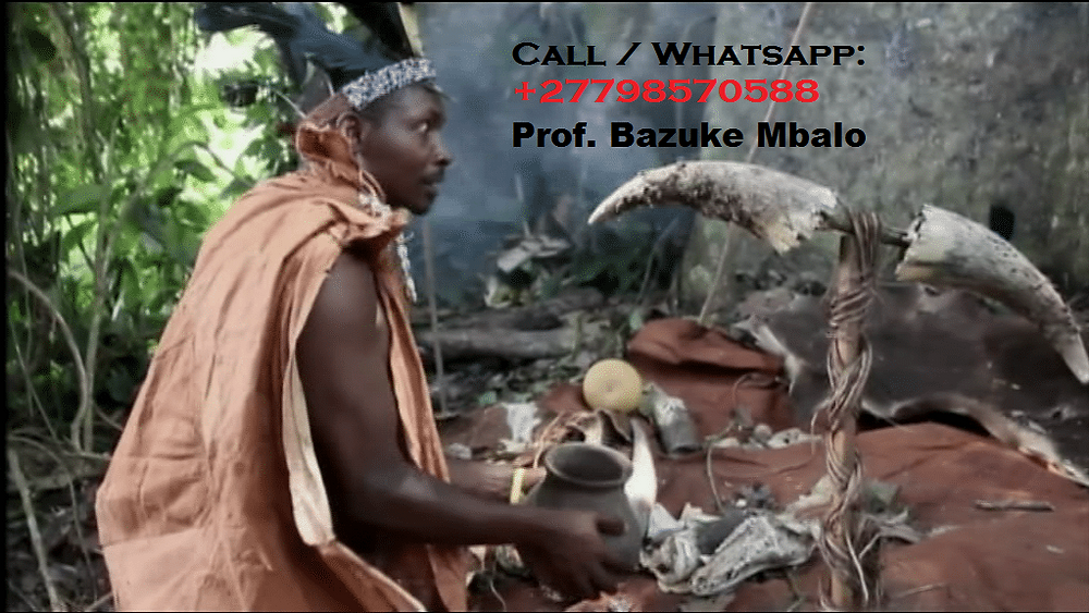 "Prof. BAZUKE MBALO '+27798570588'. Is unique Traditional herbalist healer, Lost Love Spell Caster, Sangoma like no other; Am regarded by many as the Greatest healer of this generation;   Am the only best powerful traditional spiritual herbalist healer, Lost Love Spells, Powerful Sangoma, LOTTO Winning Spells, Marriage Spells Caster, AZUUA Magic Ring for wealth, AZUUA Magic Wallet for money, Get Money into your Account Spells, Penis Enlargement Medicine, Back pains Medicine, Hips and Bums Enlargement, Breasts Enlargement, Short boys for money, Black Magic Spells, Voodoo Spells, Binding Spells and many more.   I use the miracle black magic spells and strong herbal medicine to heal and cure all people's complications in life. I inherited this job from my ancestors of my family. For so long my family has been famous as the best traditional spiritual healer family.  ""I can read your fate and destiny accurately by using the ancient methods of checking through water, mirror, your hands and many other enabling me to tell you all your problems, AM the current leader and Foreteller of the grand ancestral shrine of BANTU which has been in existence since the beginning of the world as a source of the most powerful unseen forcers, I have solved many mysterious problems by using the invisible powers.  Am regarded by many as the greatest powerful spiritual healer on the planet today""  # Bring back lost lover in (3days). # Strong love spells/Marriage spells # Do you want divorce or stop it? # Make him/her love yours alone. # Business and money boosting and customer attraction # Stop court cases(same day) # Do you have pregnancy complications? # Get a partner of your choice (3days). # Job and job promotion # Remove bad luck # Remove tokoloshe, cleansing of homes premises. # pass all assignments: Work interviews, school exams, soccer interviews  # win all chance games (lotto, casino, soccer bet, etc) # ultimate magic powers for Leadership, preachers(fellowships), sangomas DETAILED INFORMATION: CALL/WHATSAPP Prof. BAZUKE MBALO ' +27798570588 ' Email me: prof.mbalobazuka@gmail.com Visit my website: https://www.best-traditional-herbalist-healer.com/  NOTE: ""I HELP AND DO DELIVERIES TO PEOPLE ACROSS THE WHOLE WORLD""."